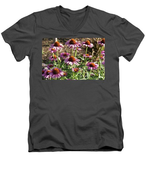 Men's V-Neck T-Shirt featuring the photograph Echinacea by Cynthia Powell