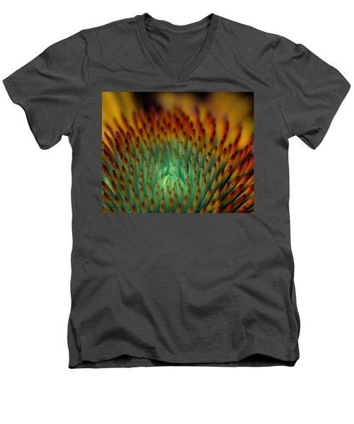 Echinacea Macro Men's V-Neck T-Shirt