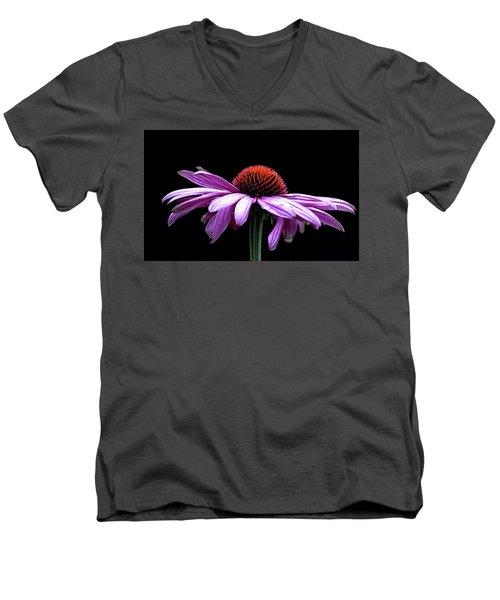 Echinacea Men's V-Neck T-Shirt by Sheldon Bilsker