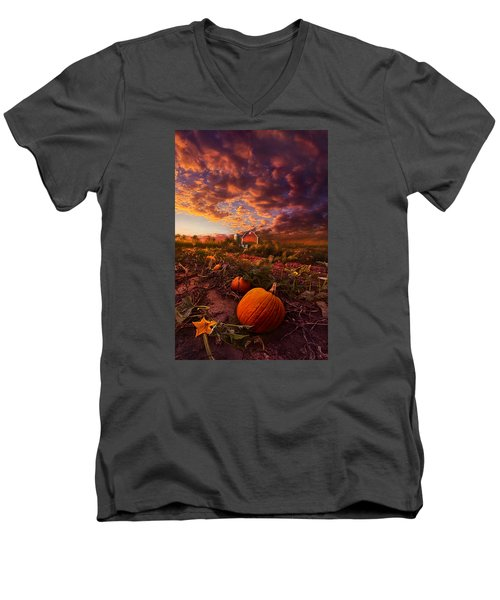 Echos You Can See Men's V-Neck T-Shirt by Phil Koch