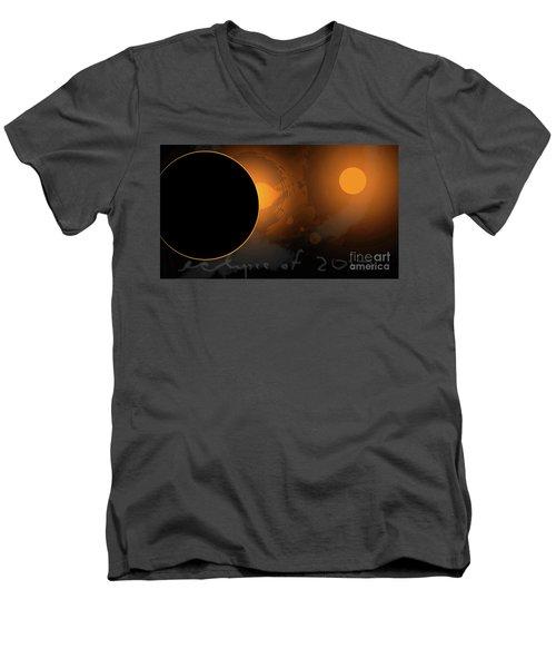 Eclipse Of 2017 W Men's V-Neck T-Shirt