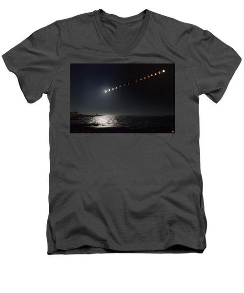 Eclipse Of The Moon Men's V-Neck T-Shirt