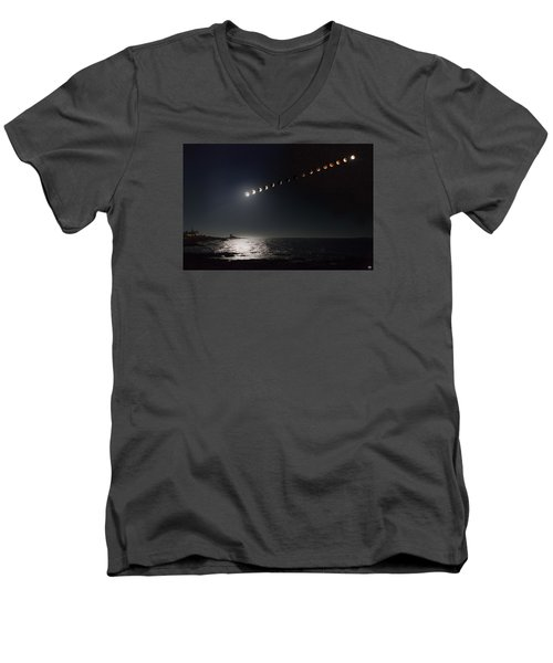 Eclipse Of The Moon Men's V-Neck T-Shirt
