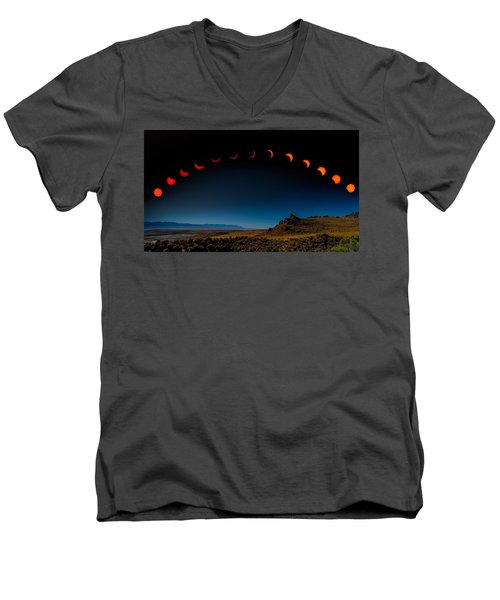Eclipse Pano Men's V-Neck T-Shirt