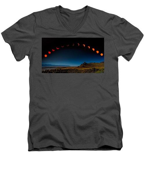 Eclipse Pano Men's V-Neck T-Shirt