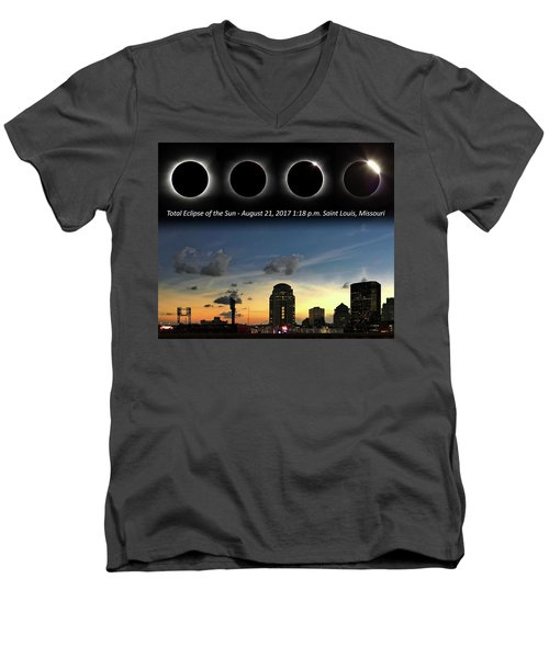 Eclipse - St Louis Men's V-Neck T-Shirt
