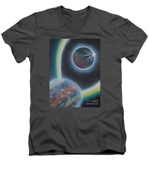 Eclipsing Men's V-Neck T-Shirt