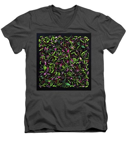 Edamame Patterns Men's V-Neck T-Shirt