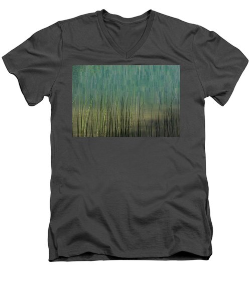 Edge Of The Lake - 365-262 Men's V-Neck T-Shirt by Inge Riis McDonald