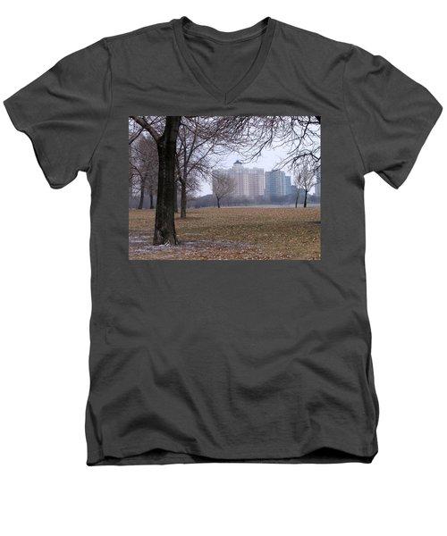 Edgewater Beach Apartments Men's V-Neck T-Shirt