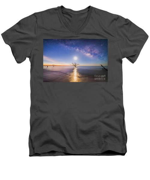 Edisto Island Milky Way Men's V-Neck T-Shirt by Robert Loe