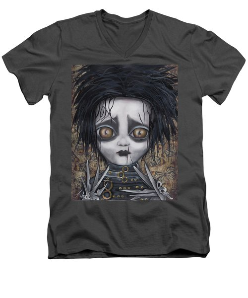 Edward Scissorhands Men's V-Neck T-Shirt by Abril Andrade Griffith