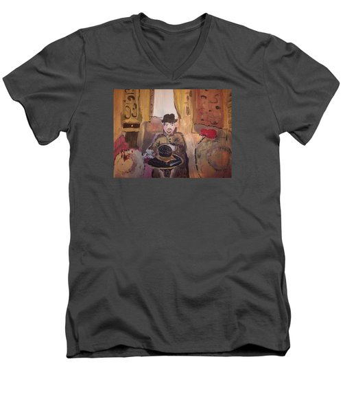 Edwardian Hats Men's V-Neck T-Shirt by Judith Desrosiers