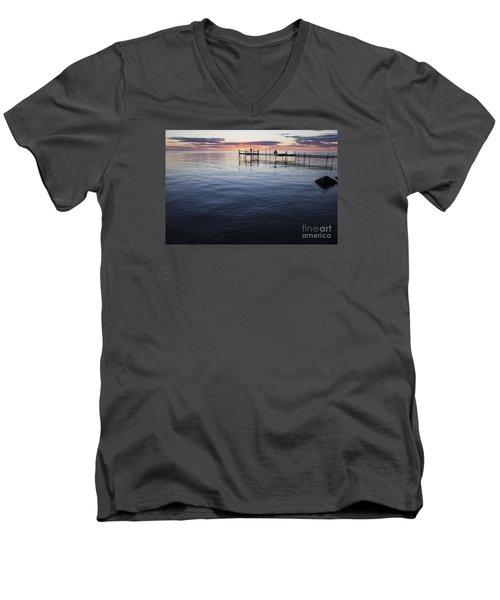 Egg Harbor Sunset Men's V-Neck T-Shirt