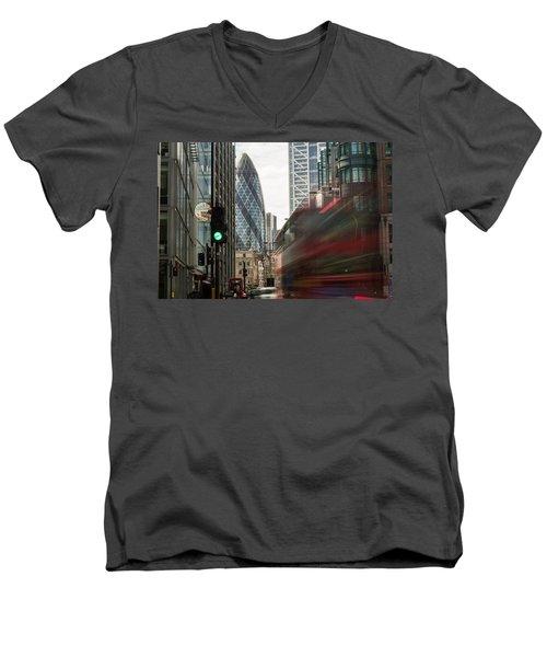 Egg Shaped Building A Men's V-Neck T-Shirt