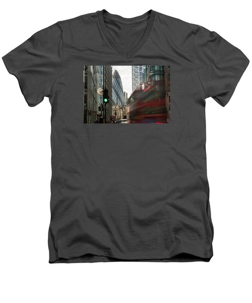 Egg Shaped Building A Men's V-Neck T-Shirt