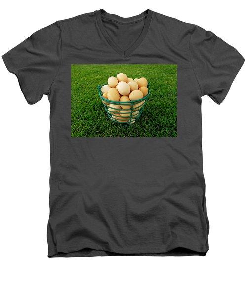 Eggs In A Basket Men's V-Neck T-Shirt