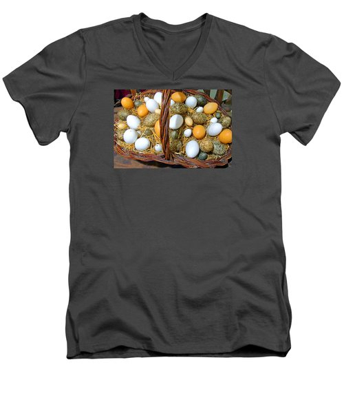 Eggs In All Sizes And Cool Colors Men's V-Neck T-Shirt