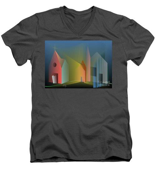 Ego Sum Via Veritas Et Vita Men's V-Neck T-Shirt by Leo Symon