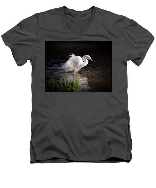 Egret Men's V-Neck T-Shirt