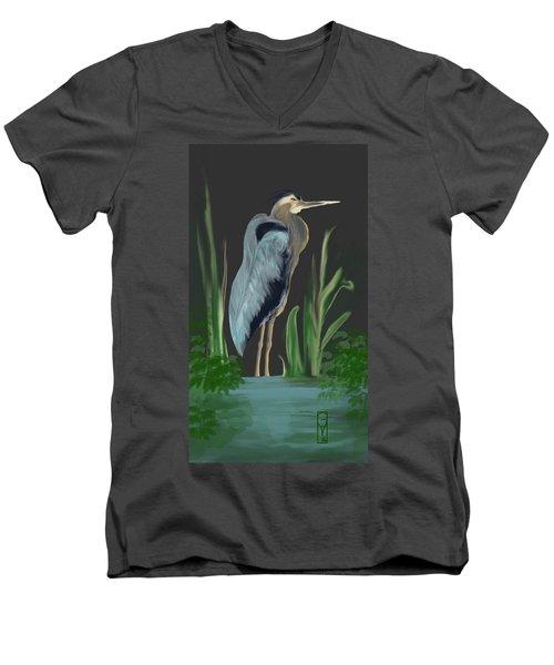 Egret I Men's V-Neck T-Shirt