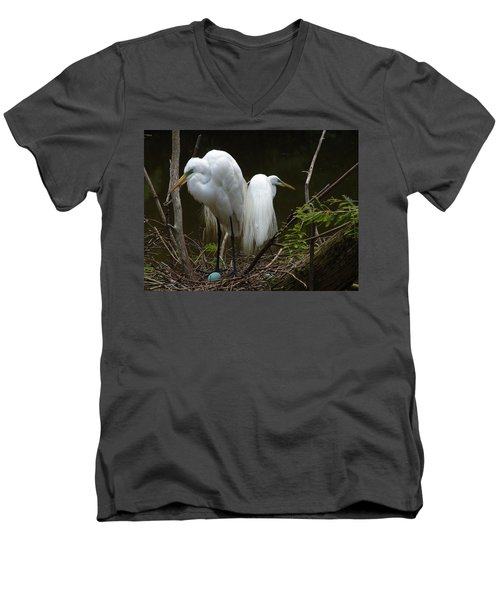Egrets Men's V-Neck T-Shirt