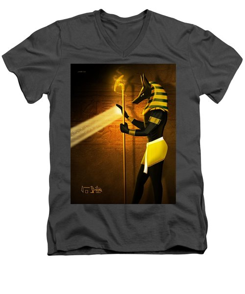 Egyptian God Anubis Men's V-Neck T-Shirt