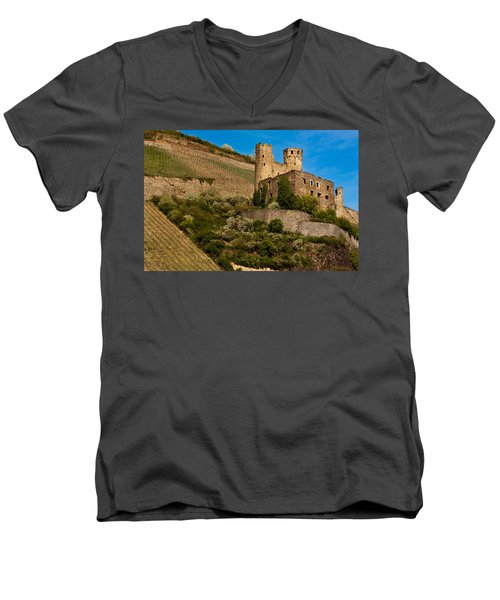 Ehrenfels Castle Ruin Men's V-Neck T-Shirt