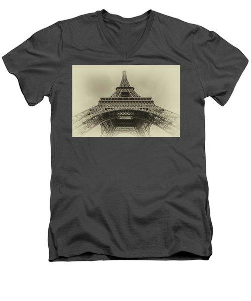 Eiffel Tower 2 Men's V-Neck T-Shirt