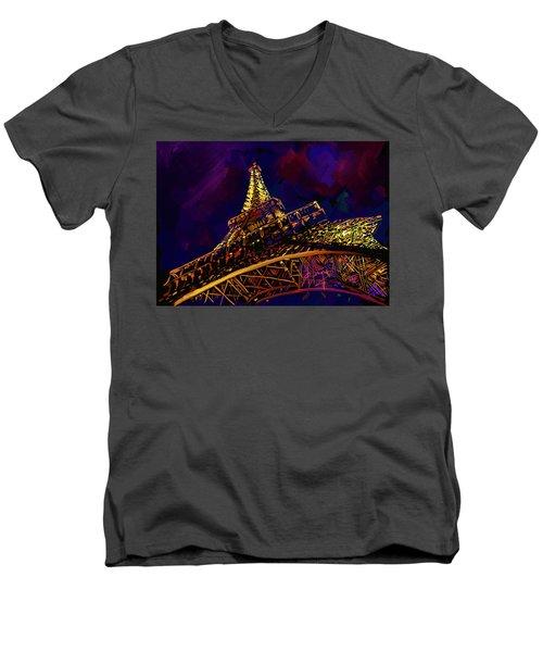 Eiffel Tower Men's V-Neck T-Shirt