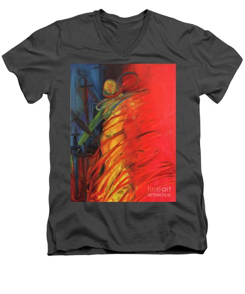 Eight Of Swords Men's V-Neck T-Shirt
