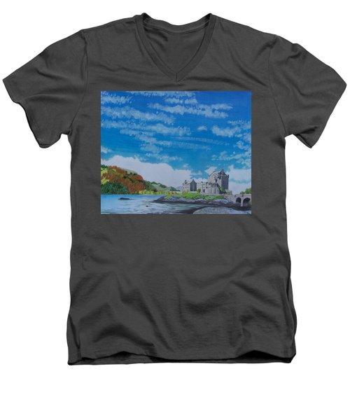 Eilean Donan Men's V-Neck T-Shirt