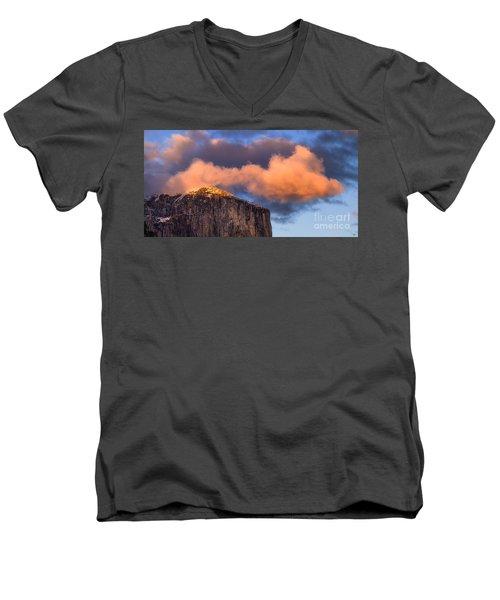 El Cap Glow Men's V-Neck T-Shirt