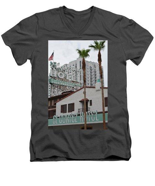 El Cortez Hotel Las Vegas Men's V-Neck T-Shirt
