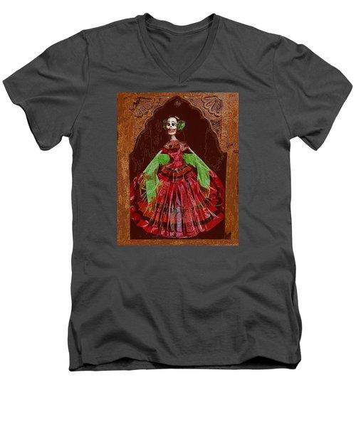 El Dia De Los Muertos Men's V-Neck T-Shirt