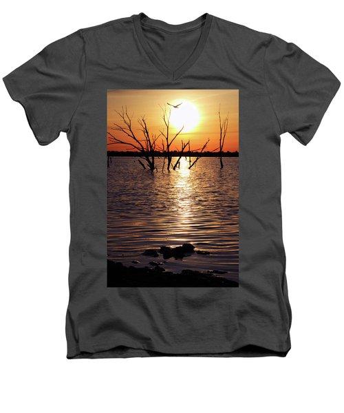 El Dorado Lake Morning Men's V-Neck T-Shirt