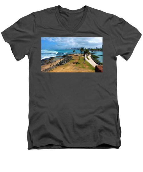 Men's V-Neck T-Shirt featuring the photograph El Escambron by Ricardo J Ruiz de Porras