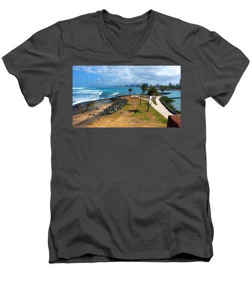 El Escambron Men's V-Neck T-Shirt by Ricardo J Ruiz de Porras
