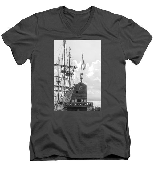 Men's V-Neck T-Shirt featuring the photograph El Galeon by Bob Decker