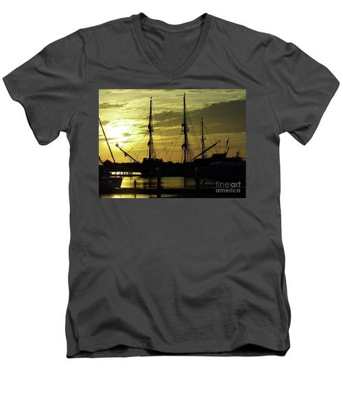 El Galeon Sunrise Men's V-Neck T-Shirt