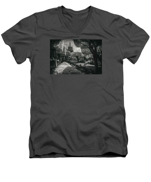 el Jardin Men's V-Neck T-Shirt by Sean Foster