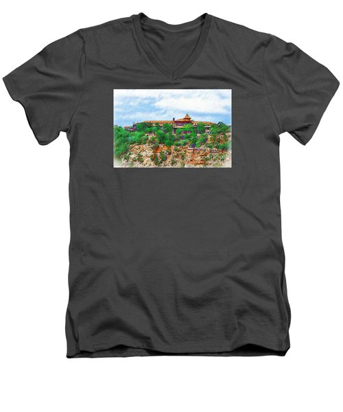 El Tovar At The Grand Canyon Men's V-Neck T-Shirt