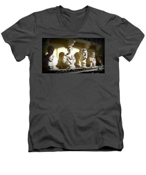 Elder Statesmen Men's V-Neck T-Shirt by Susan Lafleur