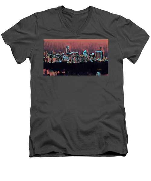 Electric Austin At Dusk Men's V-Neck T-Shirt