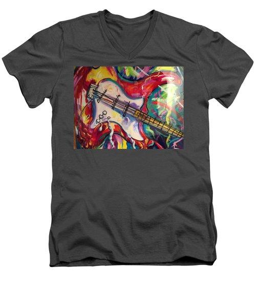 Electric Fusion  Men's V-Neck T-Shirt