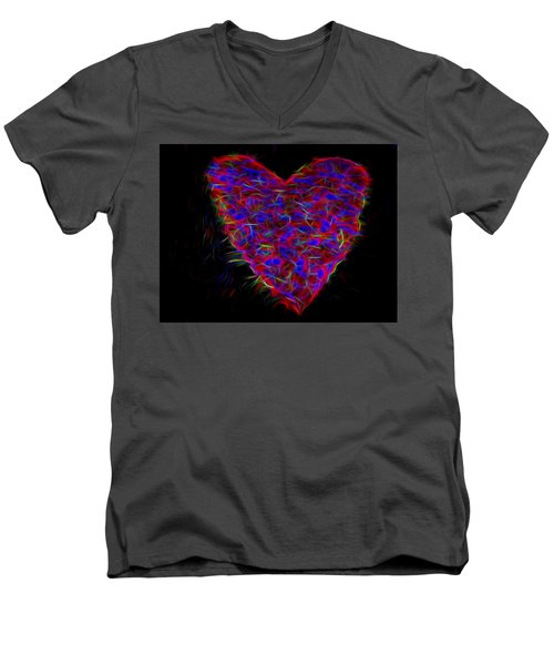 Electric Heart Men's V-Neck T-Shirt
