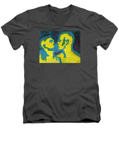 Electric Kiss Men's V-Neck T-Shirt by Shungaboy X