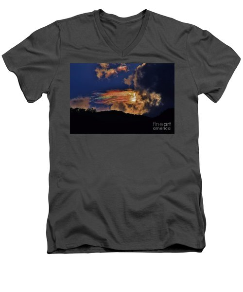 Electric Rainbow Men's V-Neck T-Shirt