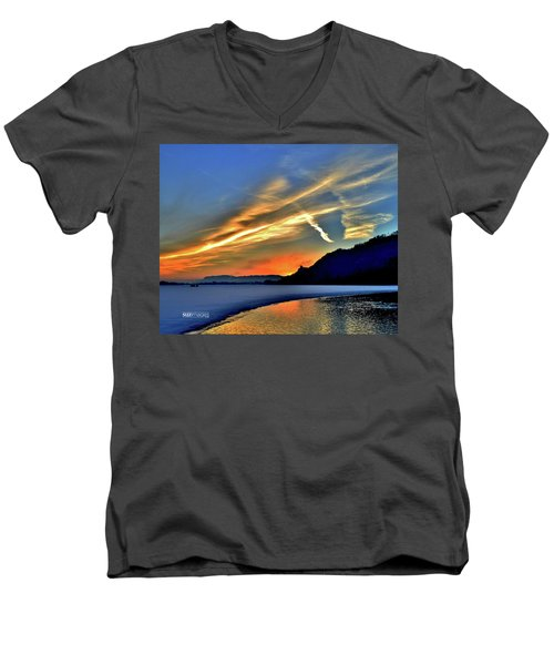 Electric Sunrise Men's V-Neck T-Shirt