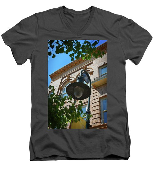 Men's V-Neck T-Shirt featuring the photograph Electrifying  Architecture by Skip Willits